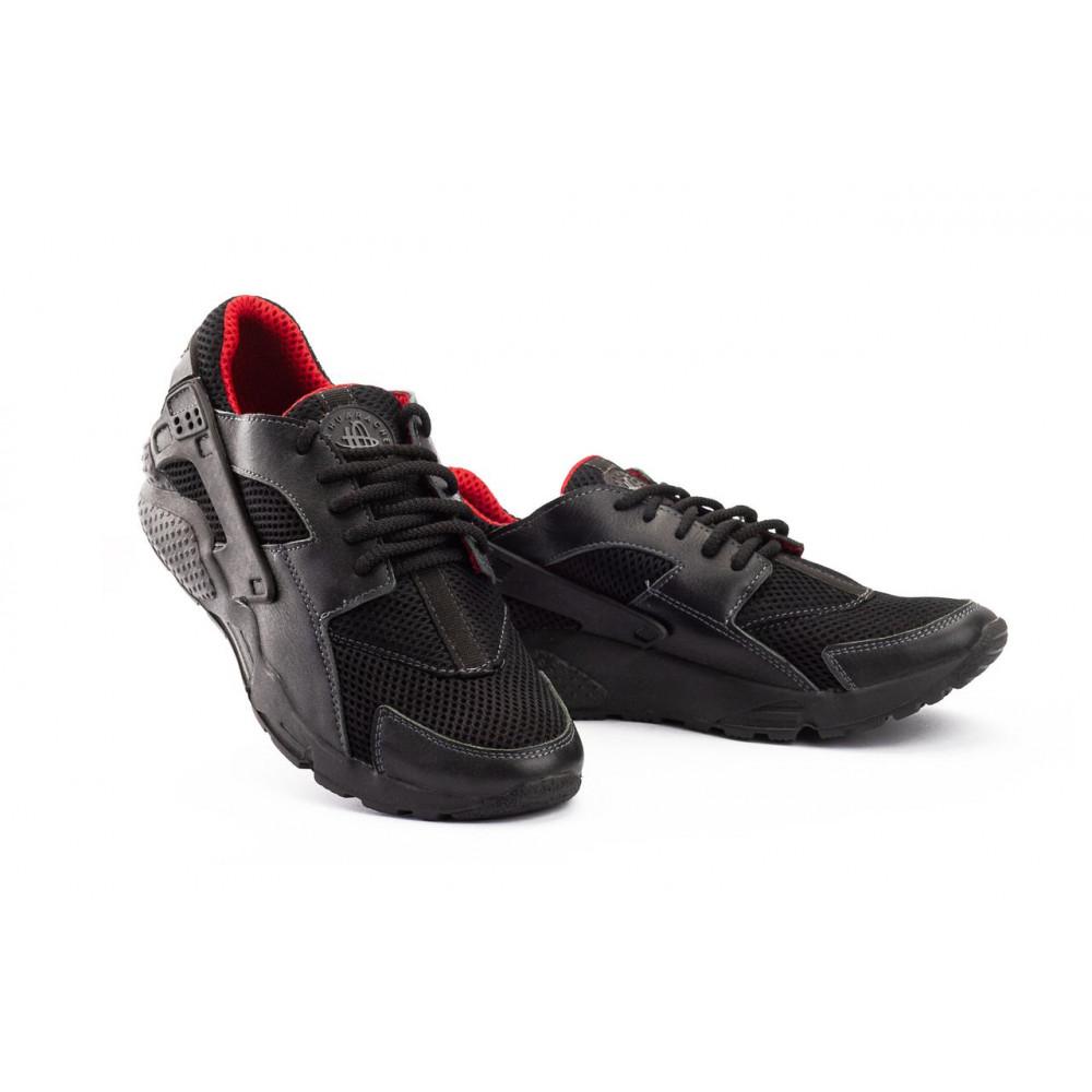 Летние кроссовки мужские - Мужские кроссовки текстильные летние черные-красные Twix ХУАР