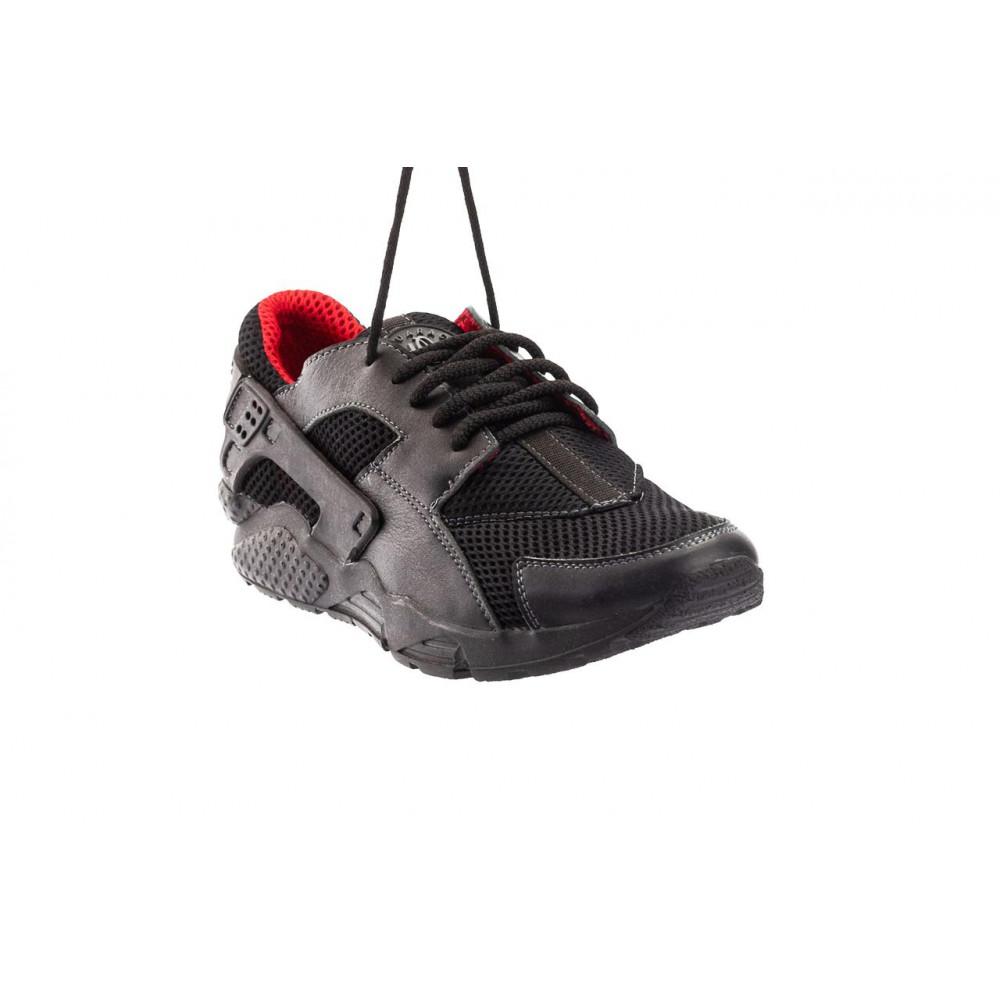 Летние кроссовки мужские - Мужские кроссовки текстильные летние черные-красные Twix ХУАР 2