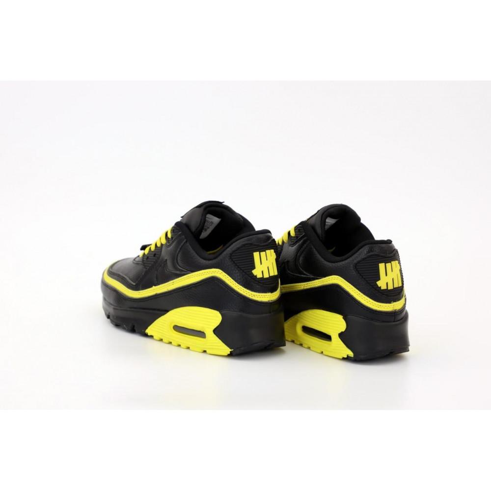 Демисезонные кроссовки мужские   - Кроссовки Air Max 90 Undefeated Optic Yellow черно-желтые 4
