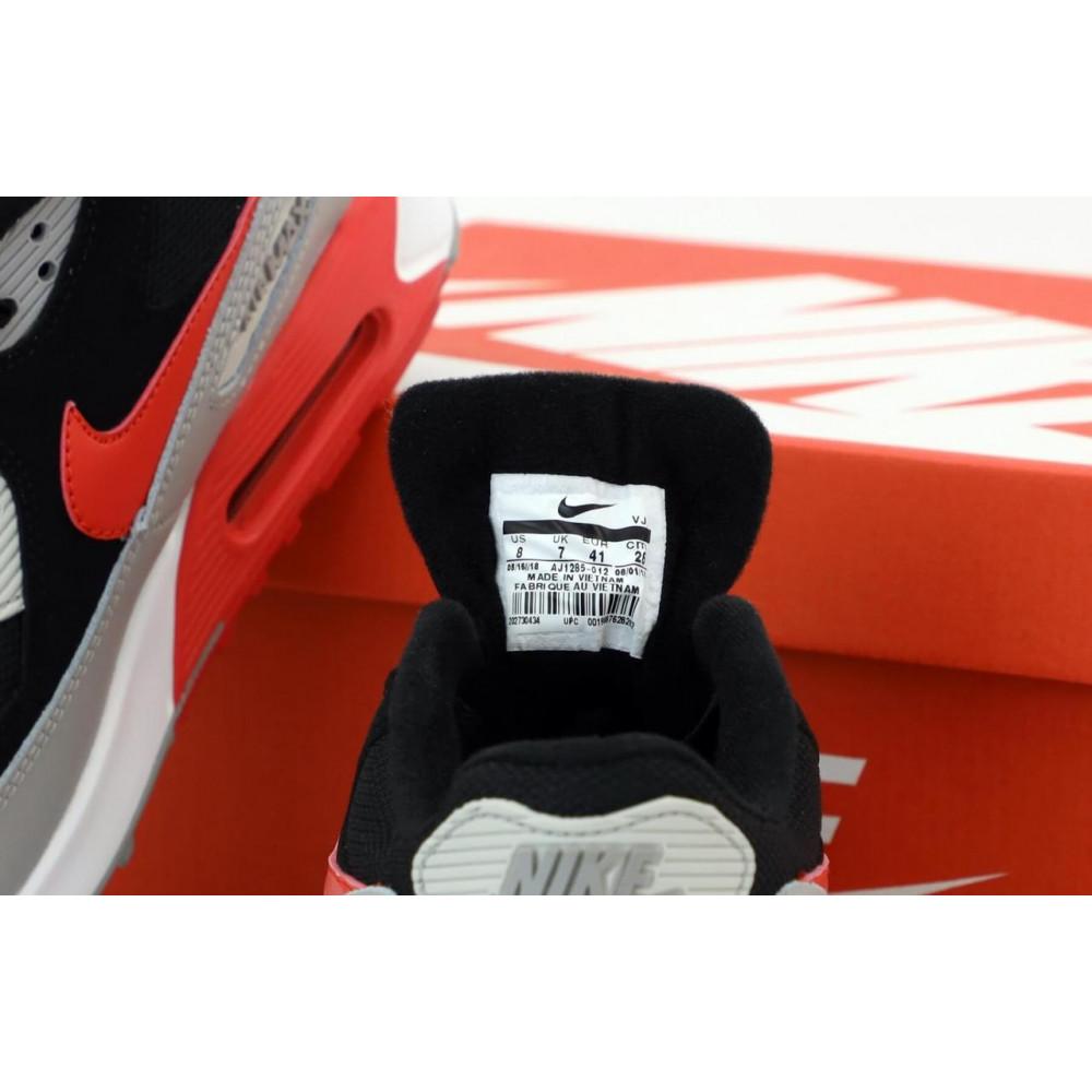 Демисезонные кроссовки мужские   - Кроссовки Найк Аир Макс 90 черно-серые 5