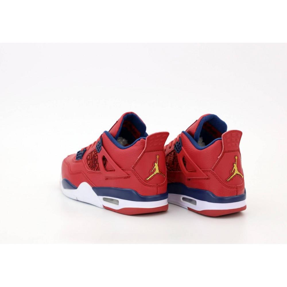 Демисезонные кроссовки мужские   - Баскетбольные кроссовки Air Jordan 4 Retro Flight Red 5