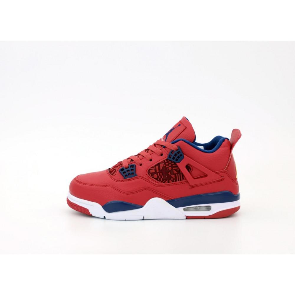 Демисезонные кроссовки мужские   - Баскетбольные кроссовки Air Jordan 4 Retro Flight Red 1