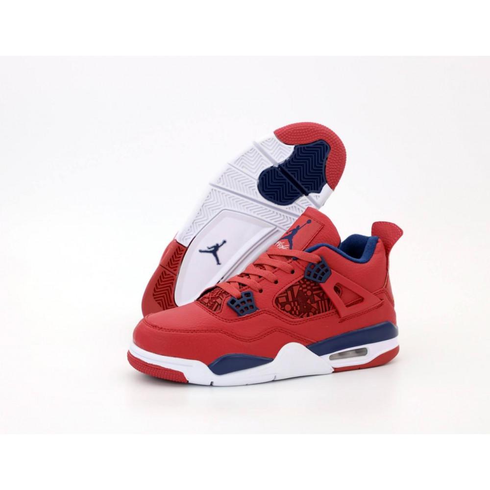 Демисезонные кроссовки мужские   - Баскетбольные кроссовки Air Jordan 4 Retro Flight Red 2
