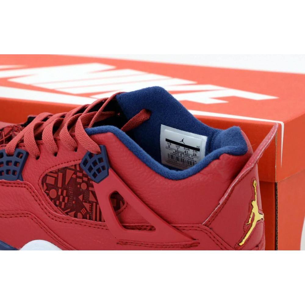 Демисезонные кроссовки мужские   - Баскетбольные кроссовки Air Jordan 4 Retro Flight Red 4