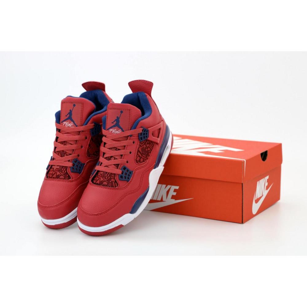 Демисезонные кроссовки мужские   - Баскетбольные кроссовки Air Jordan 4 Retro Flight Red