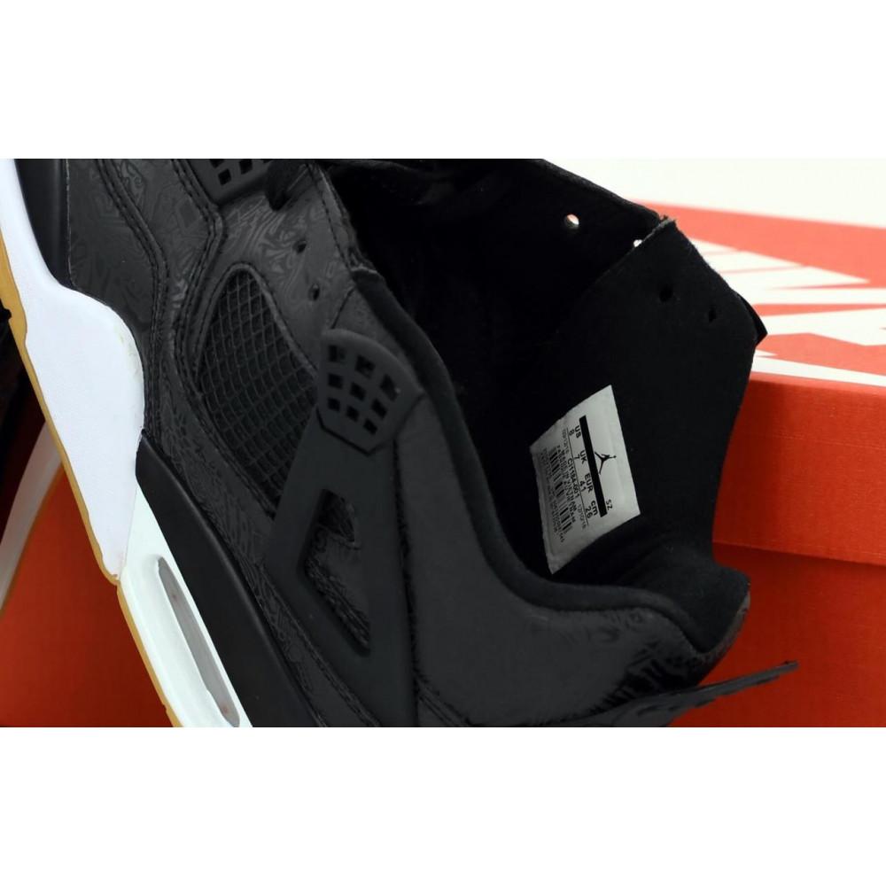Демисезонные кроссовки мужские   - Баскетбольные кроссовки Air Jordan 4 Retro Flight Black Gum 5