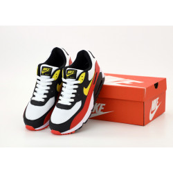 Кроссовки Nike Air Max 90 Black White Red Yellow