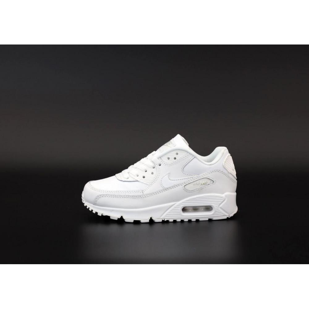 Демисезонные кроссовки мужские   - Белые кроссовки Найк Аир Макс 90 2