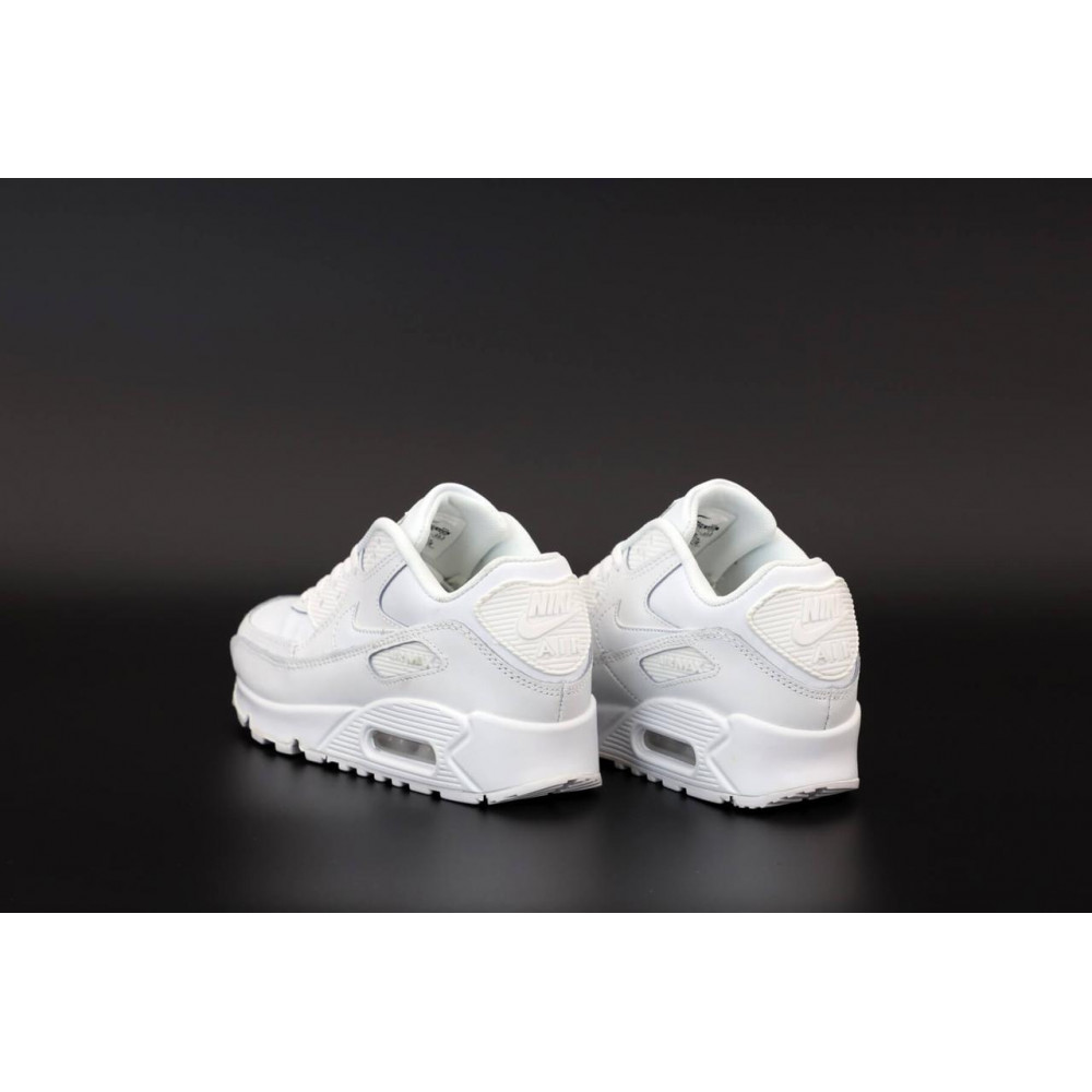 Демисезонные кроссовки мужские   - Белые кроссовки Найк Аир Макс 90 5