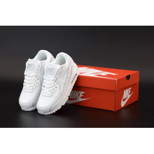 Белые кроссовки Найк Аир Макс 90