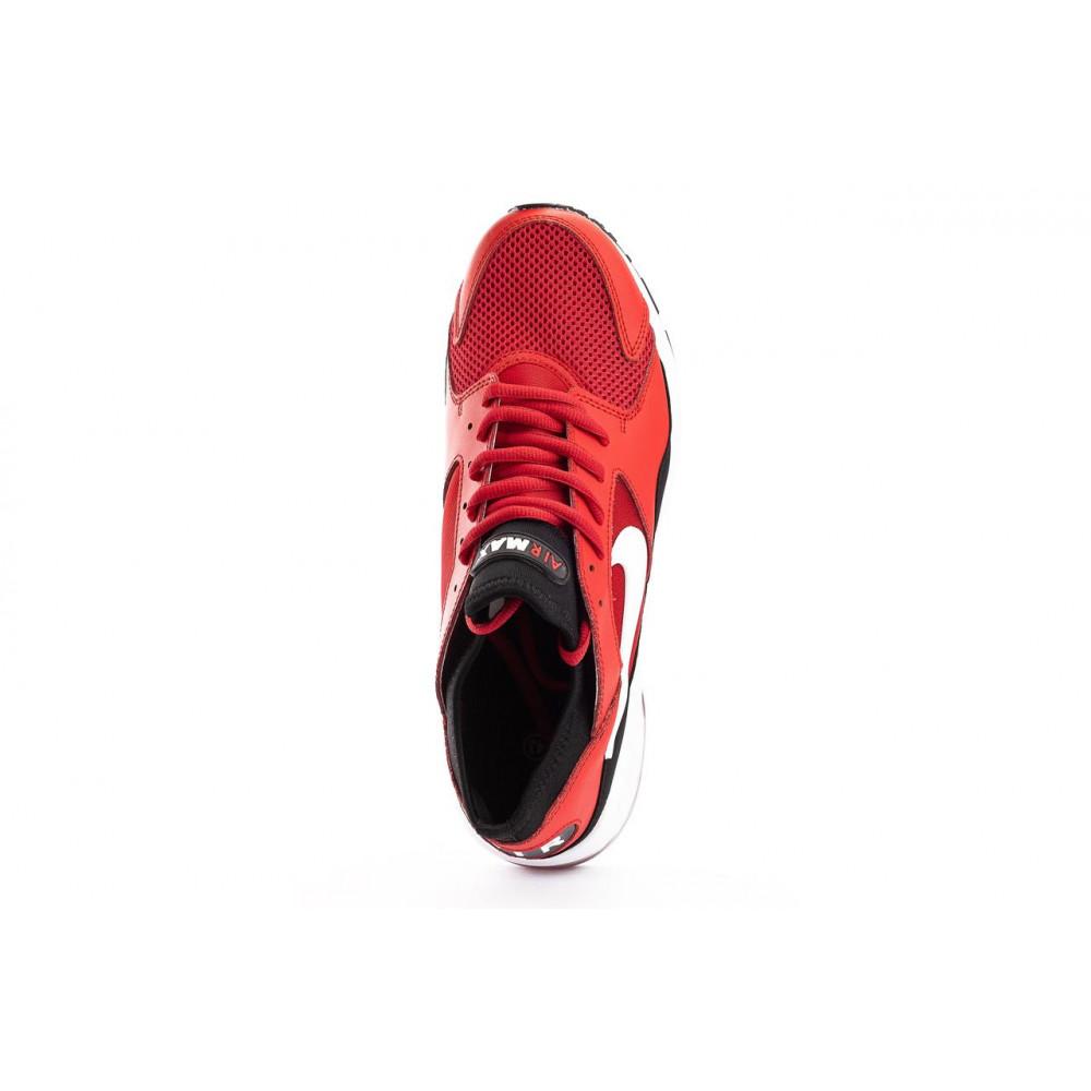Демисезонные кроссовки мужские   - Мужские кроссовки текстильные весна/осень красные Classica G 5114 -2 7