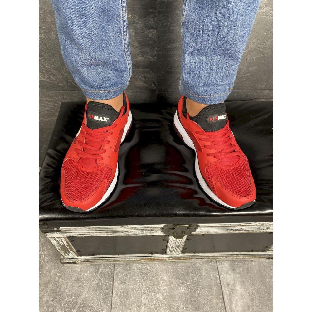 Демисезонные кроссовки мужские   - Мужские кроссовки текстильные весна/осень красные Classica G 5114 -2 4