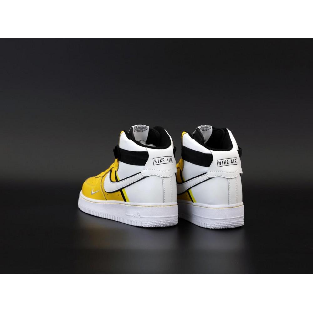 Демисезонные кроссовки мужские   - Мужские кроссовки Nike Air Force 1 AF Mid White Yellow 4