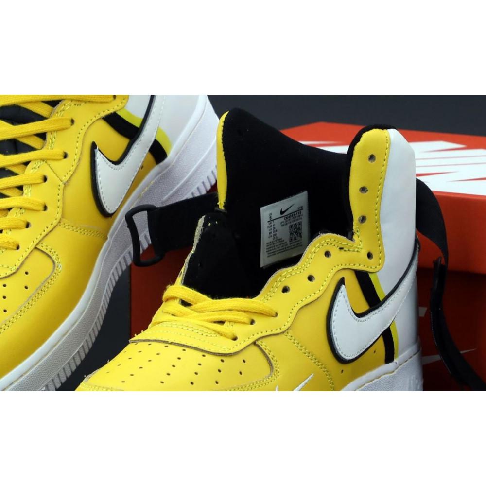 Демисезонные кроссовки мужские   - Мужские кроссовки Nike Air Force 1 AF Mid White Yellow 5