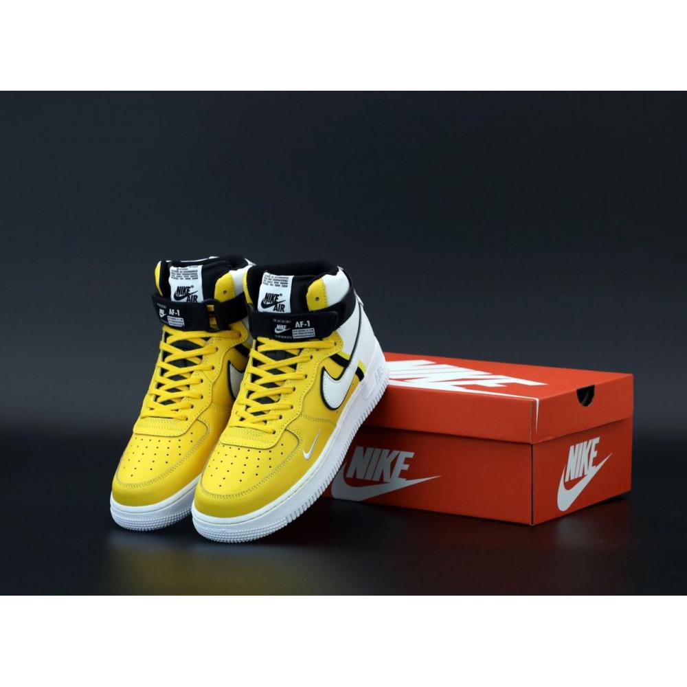 Демисезонные кроссовки мужские   - Мужские кроссовки Nike Air Force 1 AF Mid White Yellow