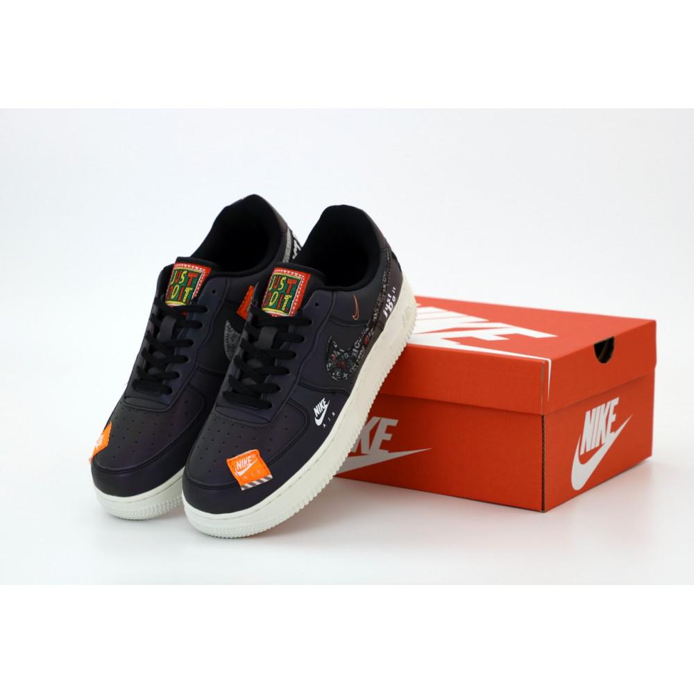 Демисезонные кроссовки мужские   - Мужские кроссовки Nike Air Force 1 Just Do It Black Reflective