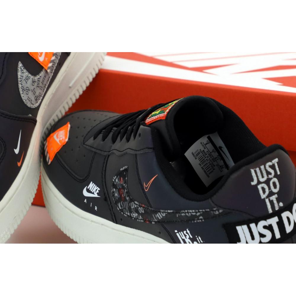 Демисезонные кроссовки мужские   - Мужские кроссовки Nike Air Force 1 Just Do It Black Reflective 5