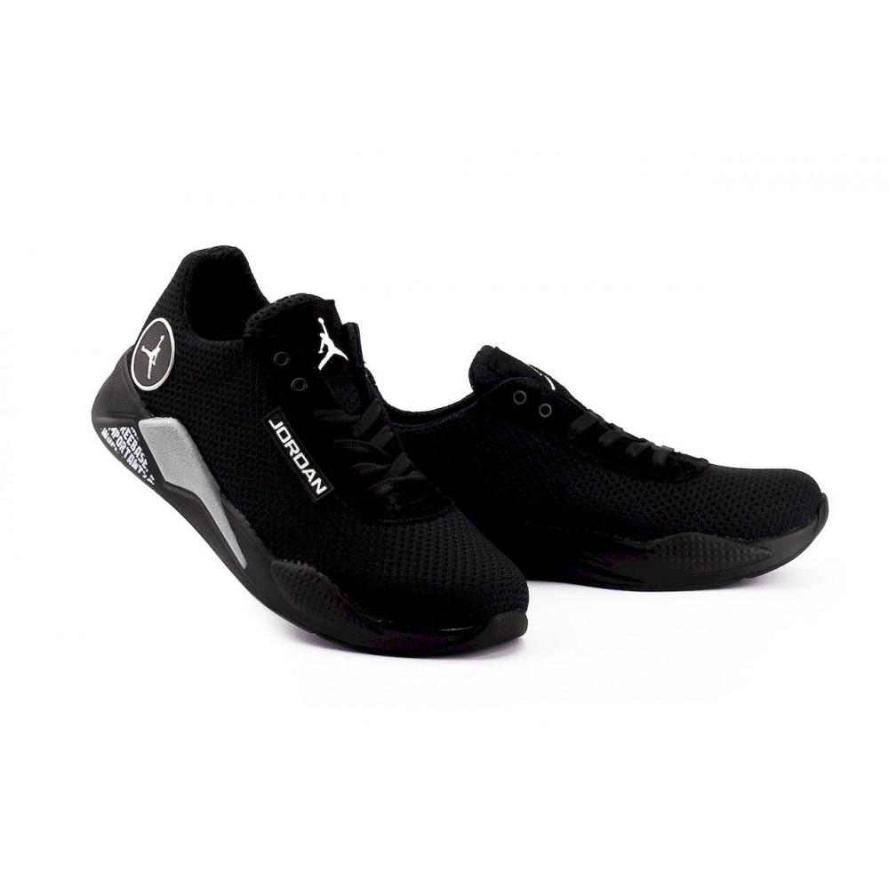 Летние кроссовки мужские - Мужские кроссовки текстильные летние черные Lions сет-JD