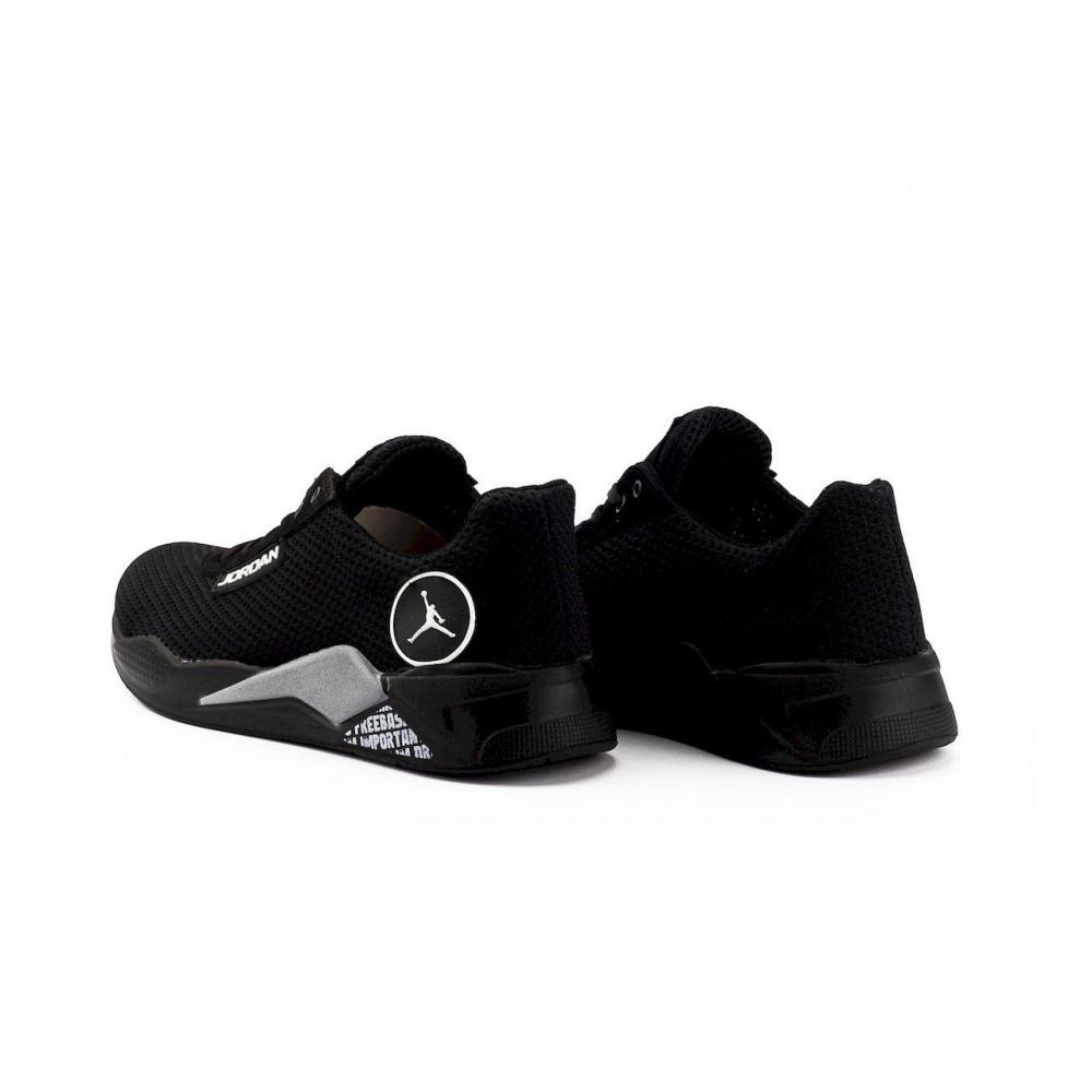 Летние кроссовки мужские - Мужские кроссовки текстильные летние черные Lions сет-JD 6