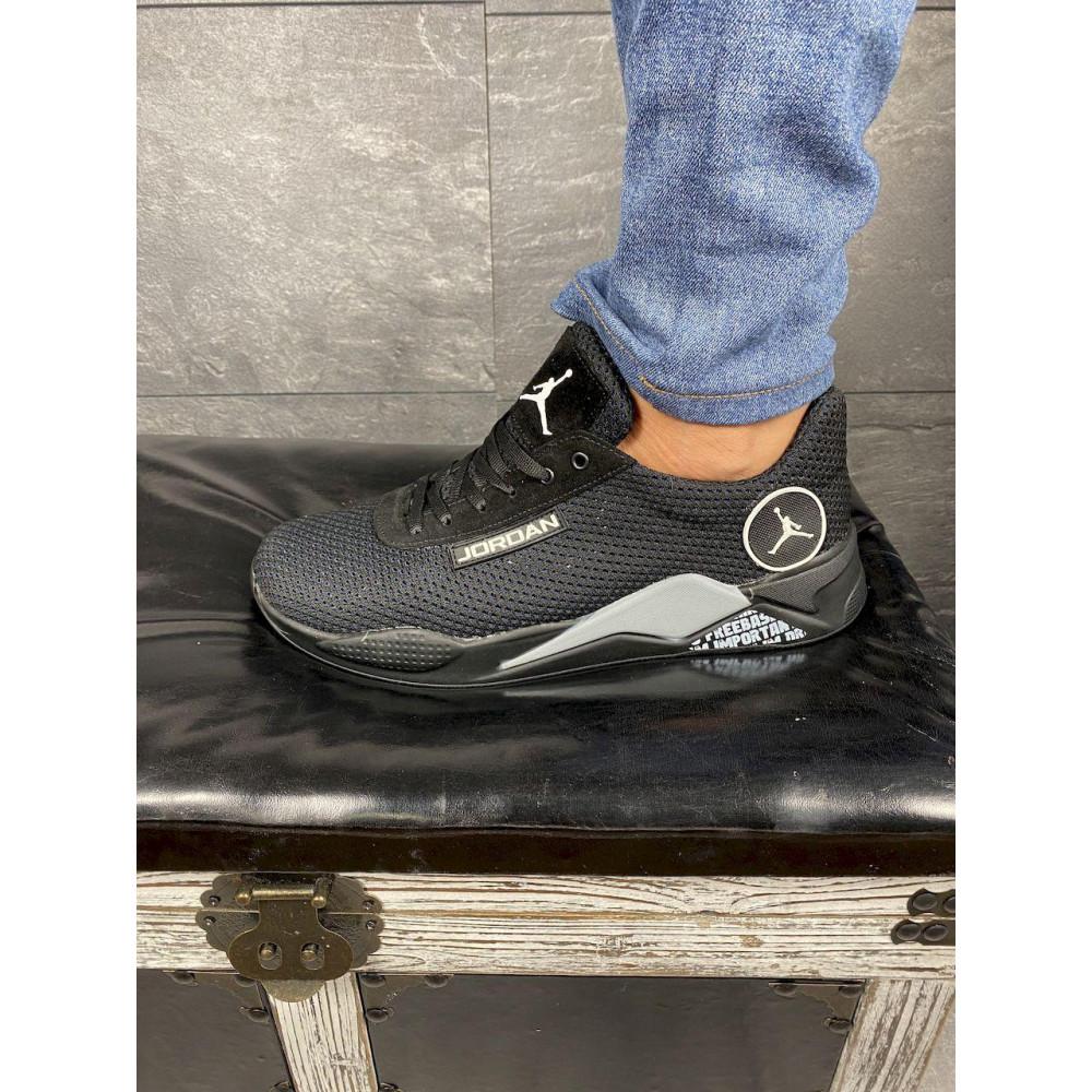 Летние кроссовки мужские - Мужские кроссовки текстильные летние черные Lions сет-JD 5