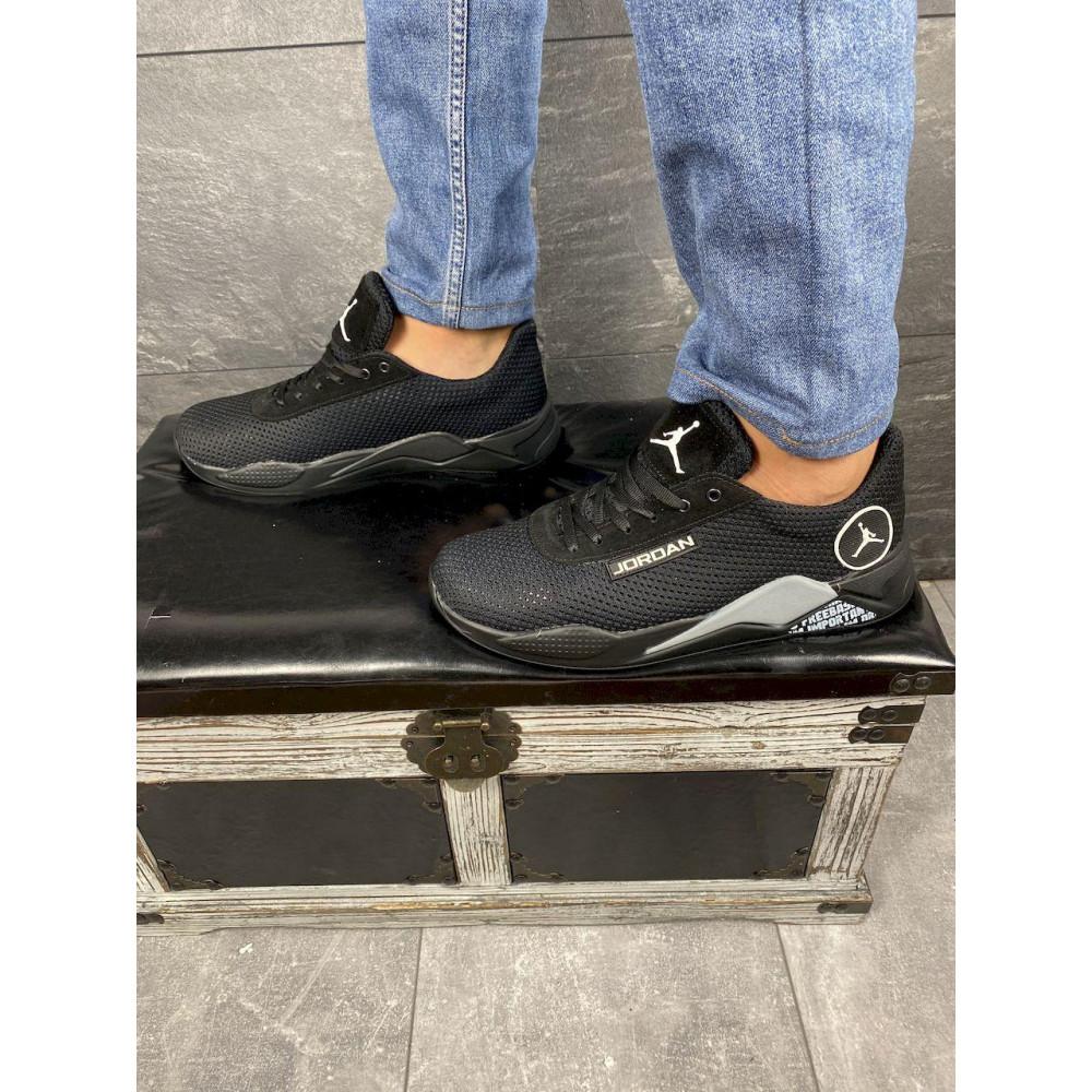 Летние кроссовки мужские - Мужские кроссовки текстильные летние черные Lions сет-JD 4