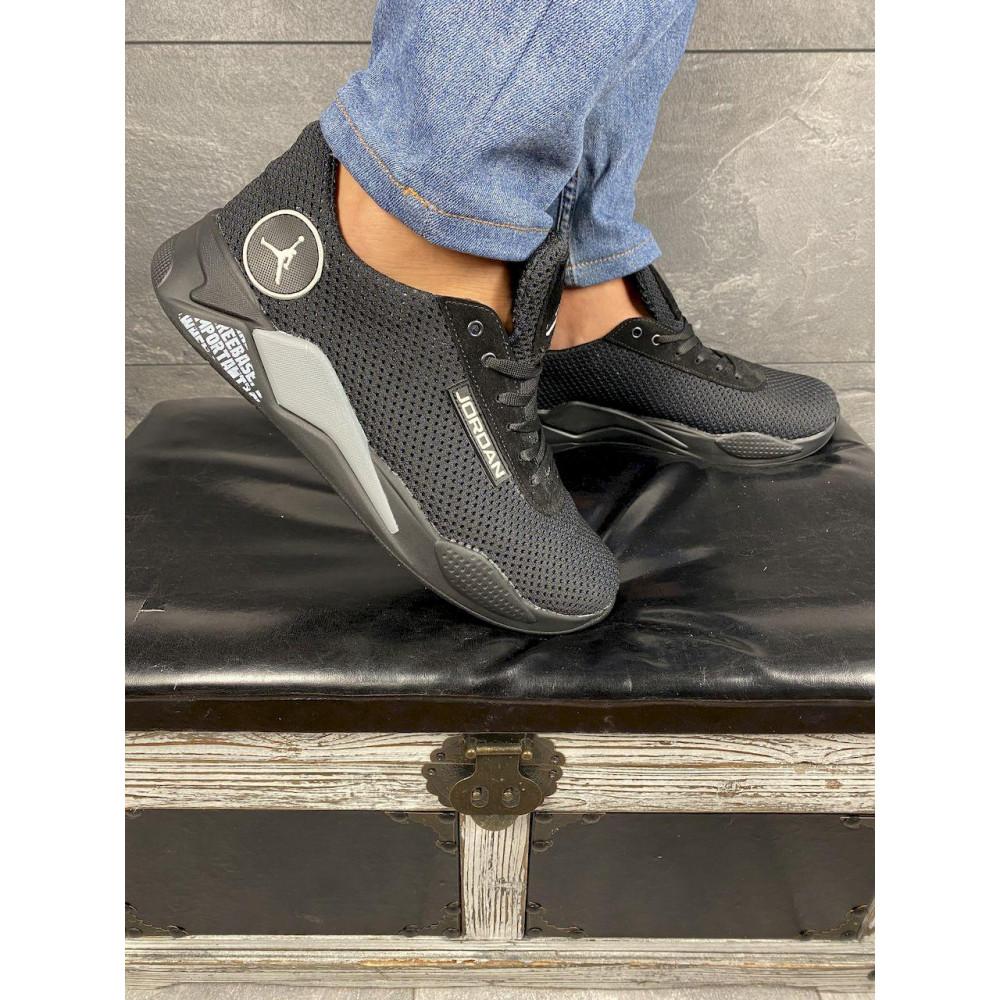Летние кроссовки мужские - Мужские кроссовки текстильные летние черные Lions сет-JD 3
