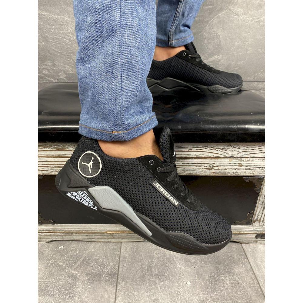 Летние кроссовки мужские - Мужские кроссовки текстильные летние черные Lions сет-JD 2