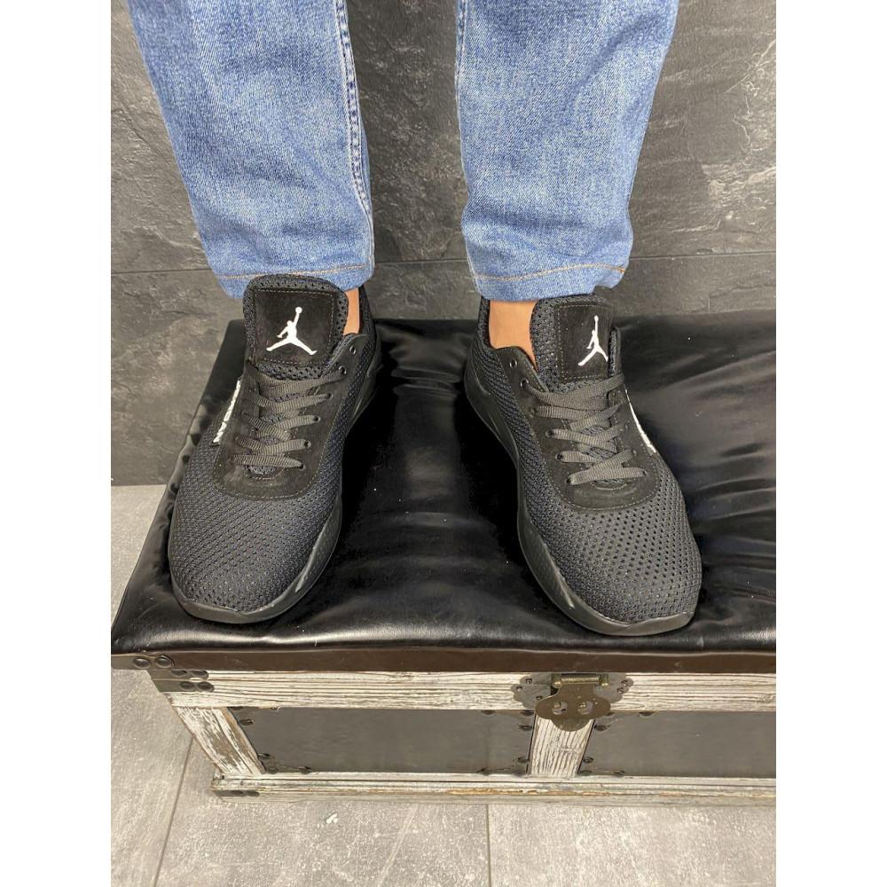 Летние кроссовки мужские - Мужские кроссовки текстильные летние черные Lions сет-JD 1
