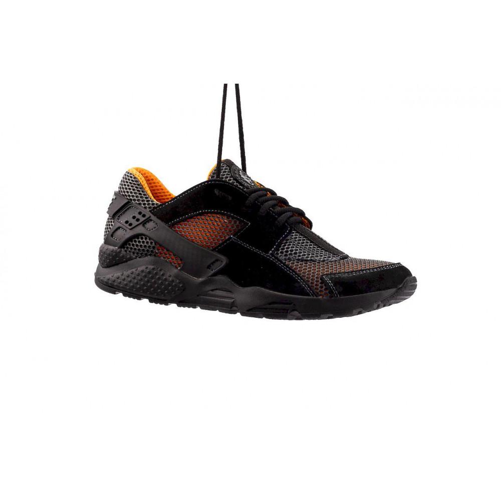 Беговые кроссовки мужские  - Мужские кроссовки текстильные летние черные-рыжие Twix ХУАР 9