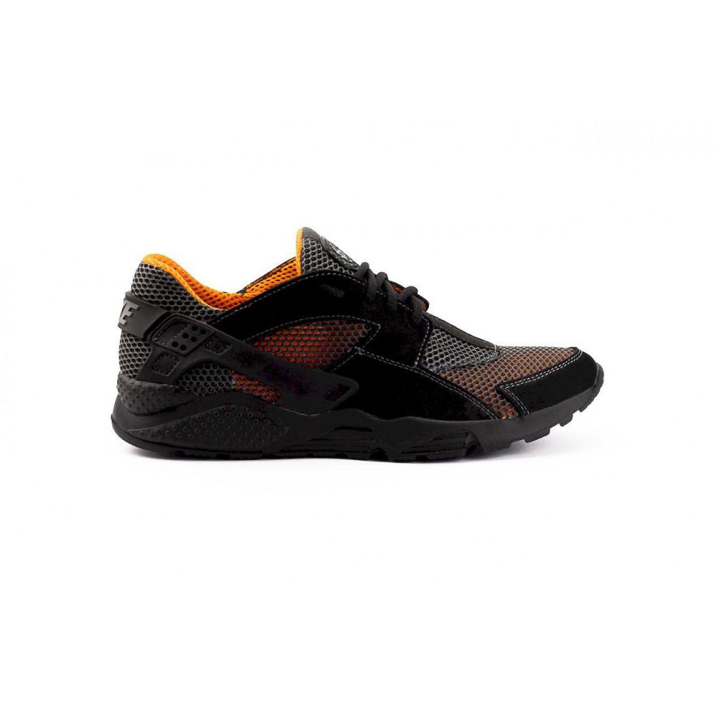 Беговые кроссовки мужские  - Мужские кроссовки текстильные летние черные-рыжие Twix ХУАР 8