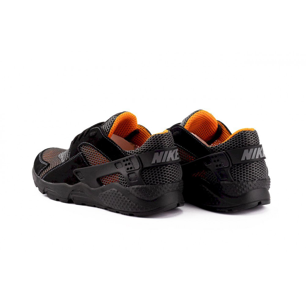 Беговые кроссовки мужские  - Мужские кроссовки текстильные летние черные-рыжие Twix ХУАР 7