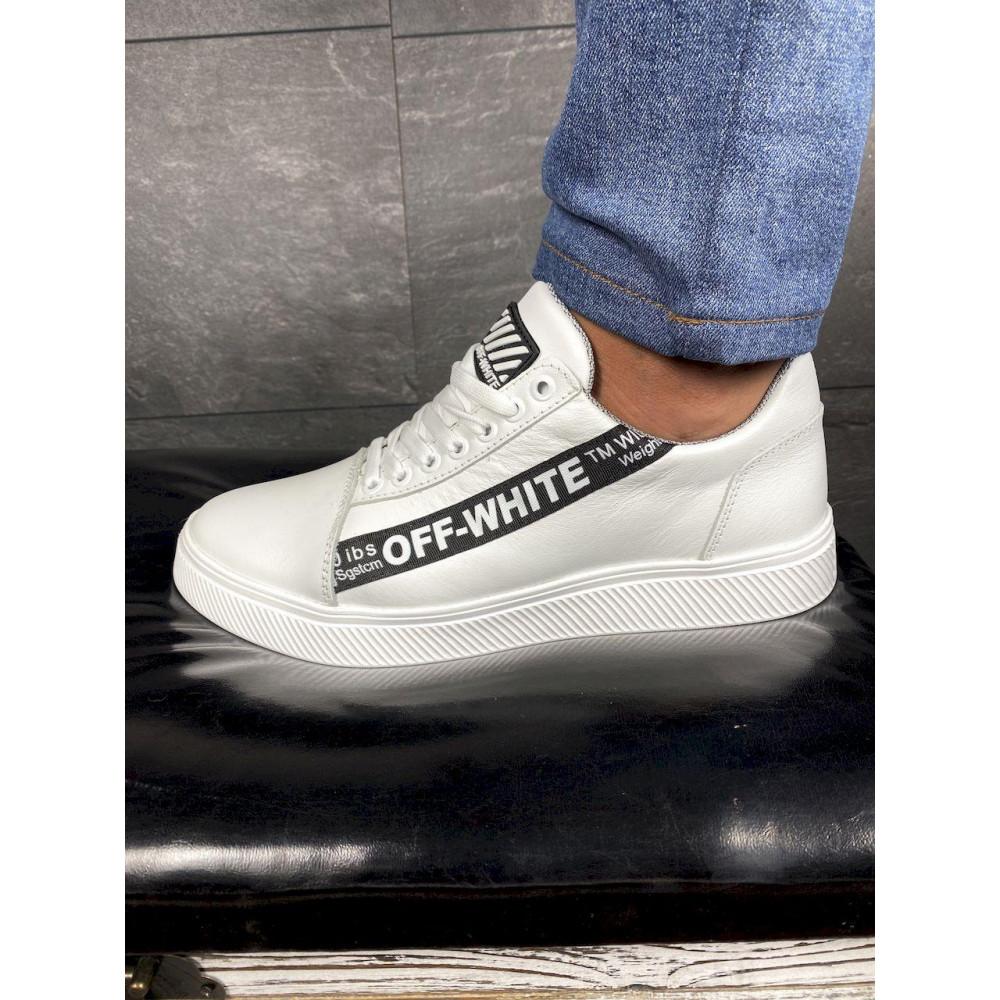 Демисезонные кроссовки мужские   - Мужские кроссовки кожаные весна/осень белые CrosSAV 399 8