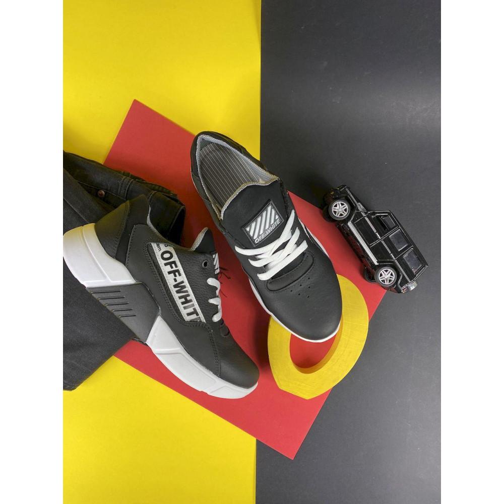 Детские кроссовки кожаные - Подростковые кроссовки кожаные весна/осень черные CrosSAV 413-подр 2