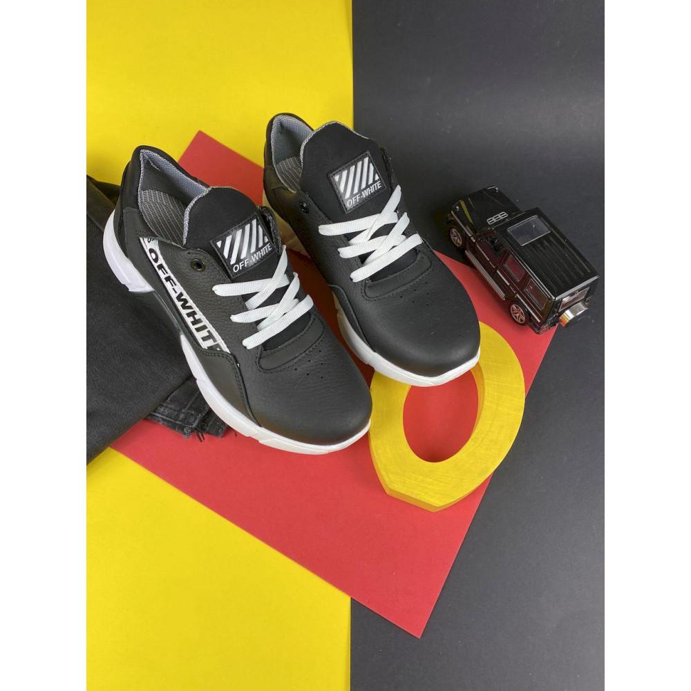 Детские кроссовки кожаные - Подростковые кроссовки кожаные весна/осень черные CrosSAV 413-подр 3