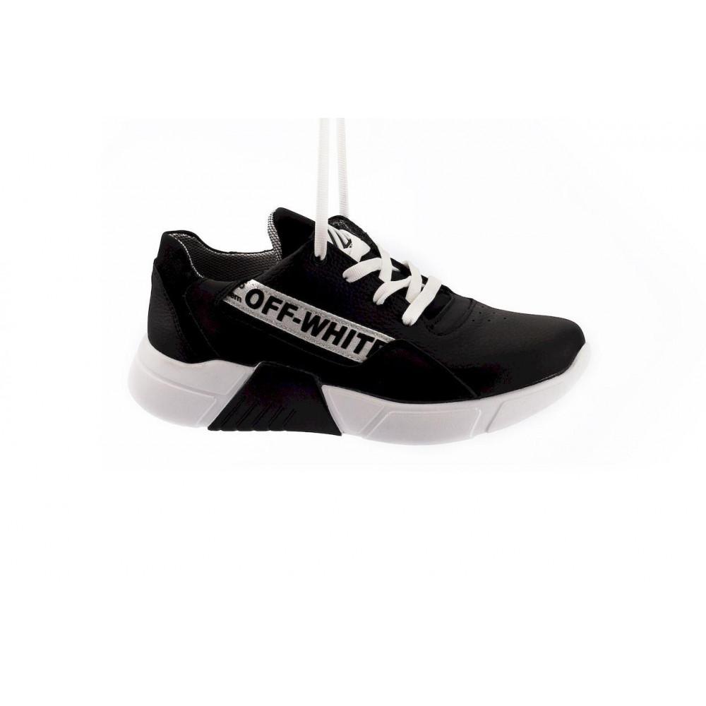 Детские кроссовки кожаные - Подростковые кроссовки кожаные весна/осень черные CrosSAV 413-подр 4