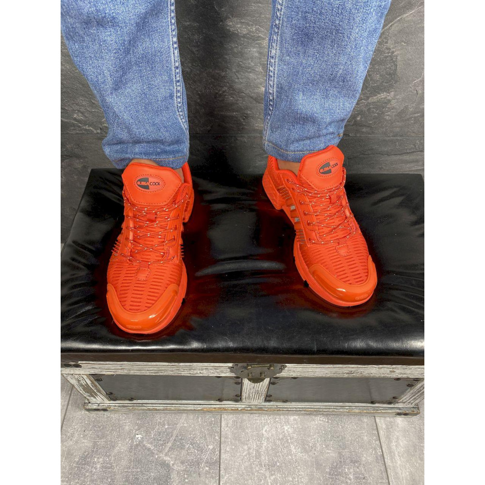 Демисезонные кроссовки мужские   - Мужские кроссовки текстильные весна/осень оранжевые Ditof A 1094 -8 2