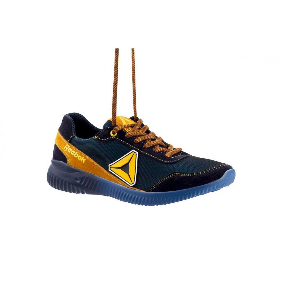 Летние кроссовки мужские - Мужские кроссовки текстильные летние синие-рыжие CrosSAV 20 8