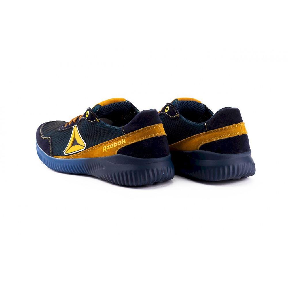 Летние кроссовки мужские - Мужские кроссовки текстильные летние синие-рыжие CrosSAV 20 6