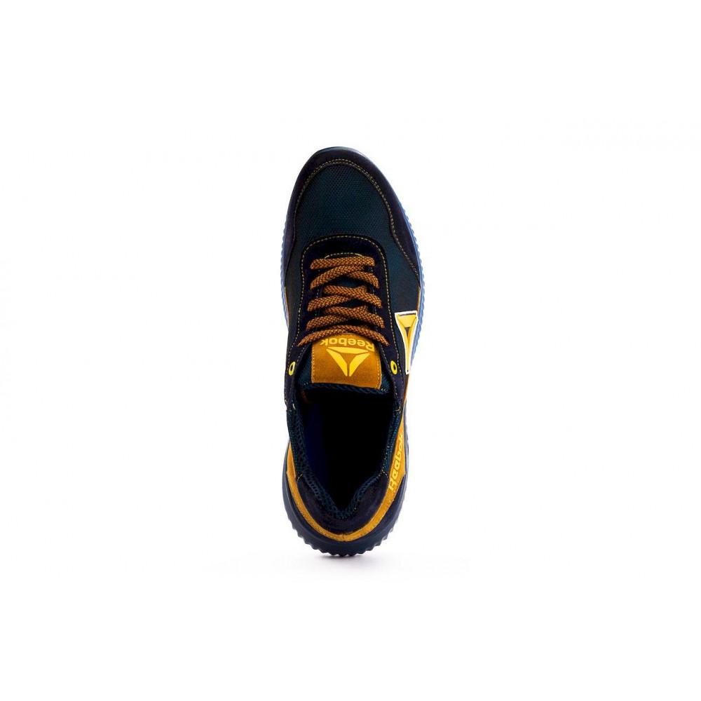 Летние кроссовки мужские - Мужские кроссовки текстильные летние синие-рыжие CrosSAV 20 5
