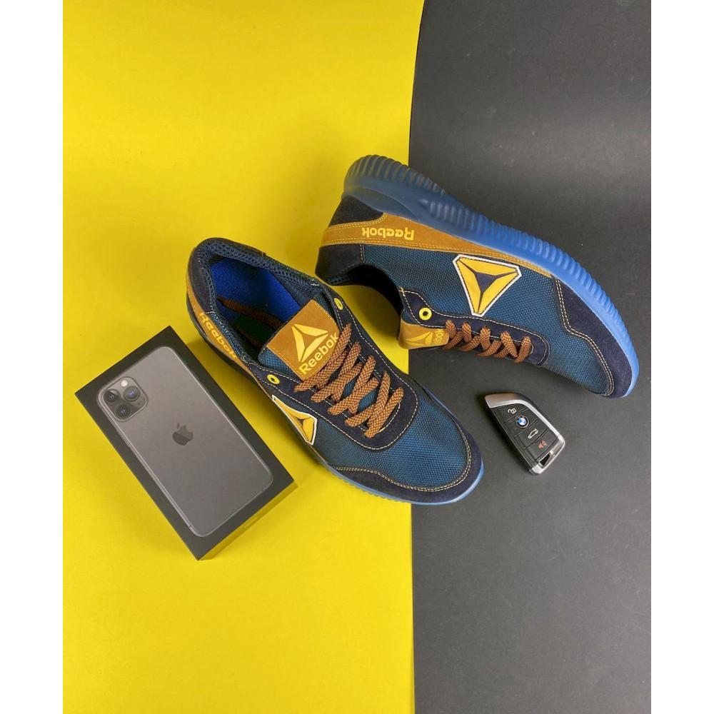 Летние кроссовки мужские - Мужские кроссовки текстильные летние синие-рыжие CrosSAV 20 3