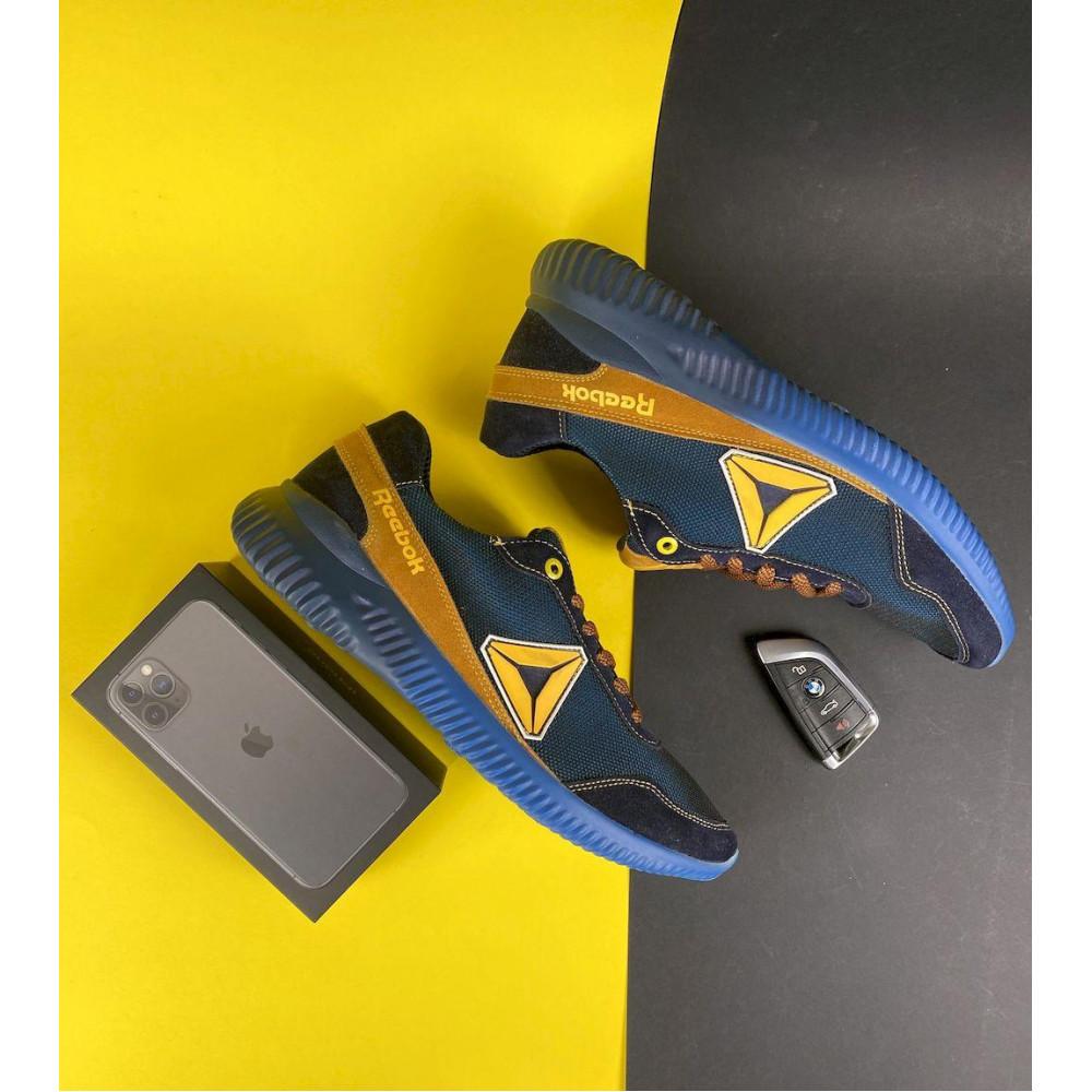 Летние кроссовки мужские - Мужские кроссовки текстильные летние синие-рыжие CrosSAV 20 2