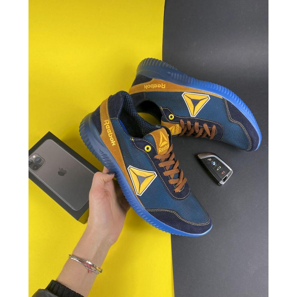 Летние кроссовки мужские - Мужские кроссовки текстильные летние синие-рыжие CrosSAV 20 1