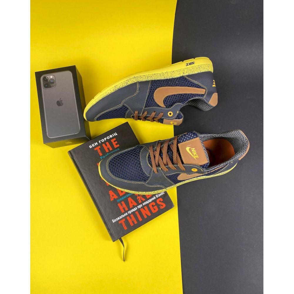 Летние кроссовки мужские - Мужские кроссовки текстильные летние синие-рыжие CrosSAV 10 1