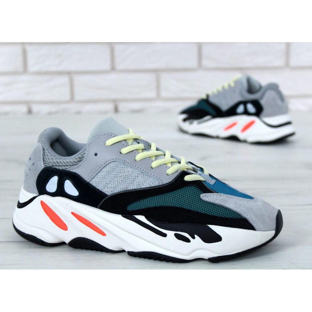 Демисезонные кроссовки мужские   - Яркие кроссовки Adidas Yeezy Wave Runner 700 Solid Grey Chalk 8