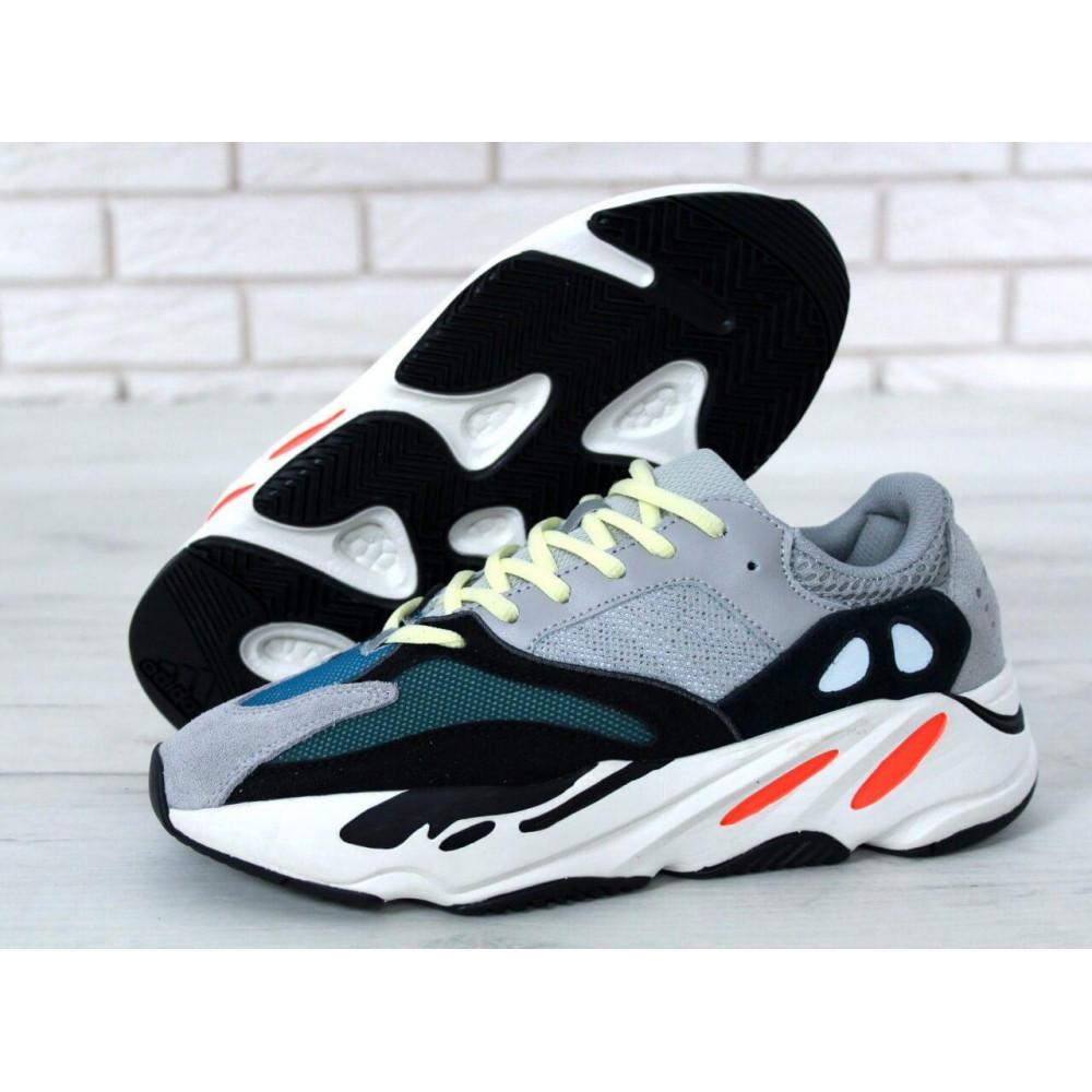 Демисезонные кроссовки мужские   - Яркие кроссовки Adidas Yeezy Wave Runner 700 Solid Grey Chalk 9