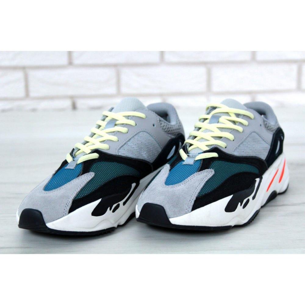 Демисезонные кроссовки мужские   - Яркие кроссовки Adidas Yeezy Wave Runner 700 Solid Grey Chalk 7