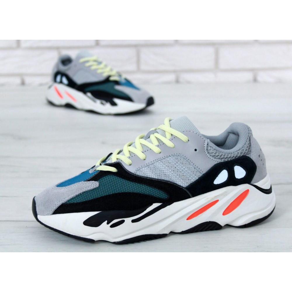 Демисезонные кроссовки мужские   - Яркие кроссовки Adidas Yeezy Wave Runner 700 Solid Grey Chalk 6