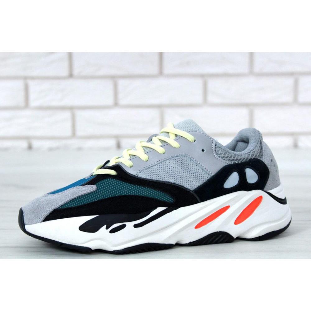 Демисезонные кроссовки мужские   - Яркие кроссовки Adidas Yeezy Wave Runner 700 Solid Grey Chalk 4