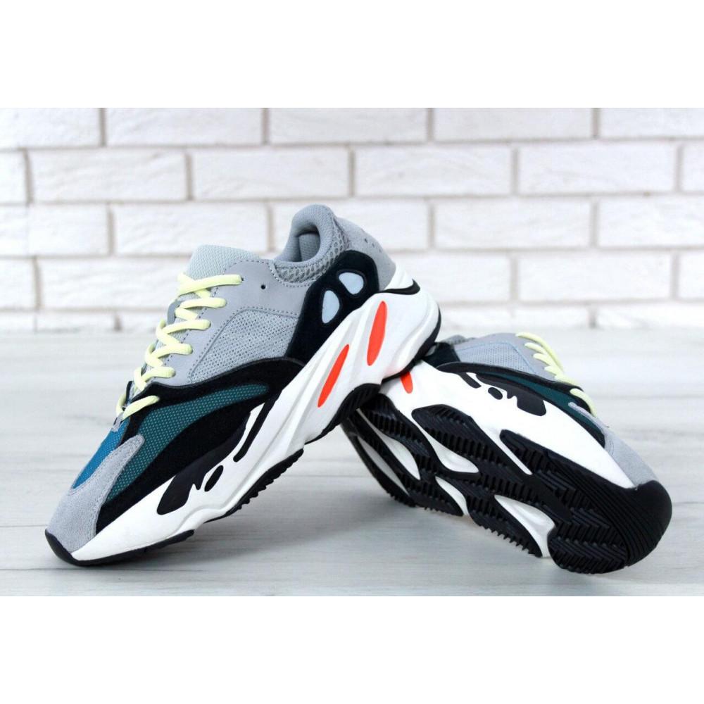 Демисезонные кроссовки мужские   - Яркие кроссовки Adidas Yeezy Wave Runner 700 Solid Grey Chalk 3