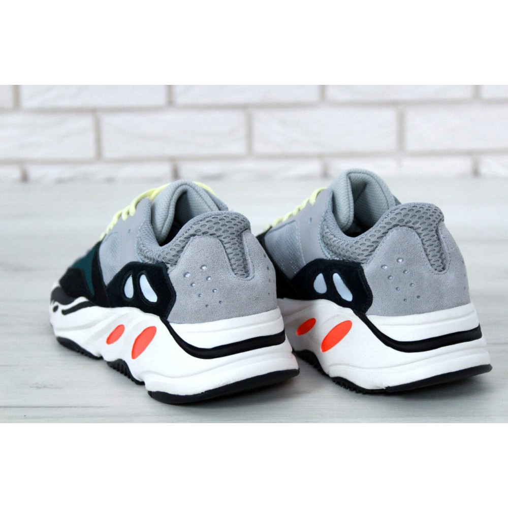Демисезонные кроссовки мужские   - Яркие кроссовки Adidas Yeezy Wave Runner 700 Solid Grey Chalk 1